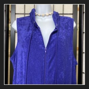 3/15🌼 Purple Terry Cloth Hooded Coverup/ Robe